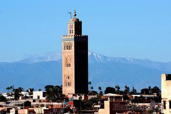 Марокко. Марракеш. Медина и мечеть Кутубия.