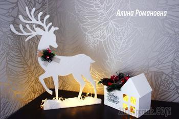 Создаем оленя своими руками на новый год!