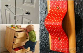Советы, которые помогут сделать дом абсолютно безопасным для маленького ребенка