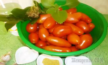 Маринуем помидоры с имбирем