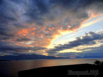 Новый год в Греции. Последний наш рассвет  на острове Лефкада.