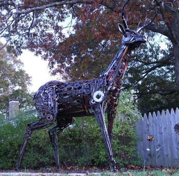 Скульптуры из металлолома от Майкла Вивона