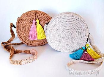 Делаем модную круглую сумочку своими руками