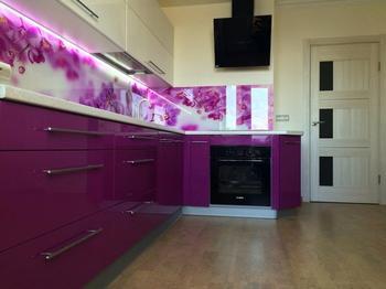 Кухня: яркая, с орхидеями и спальным местом