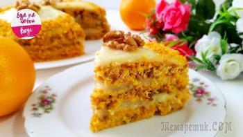 Легкий домашний торт без яиц и молочных продуктов