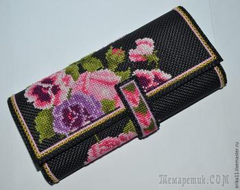 Мастерим кошелек с вышивкой