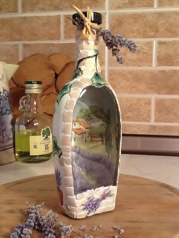 Оригинальная техника декора бутылки