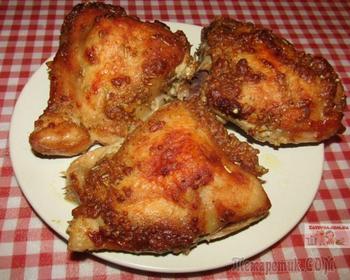 Курица, запеченная в горчичном маринаде