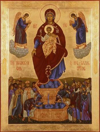 Икона Божией Матери «Живоносный источник»: в чем помогает