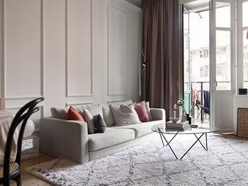 Небольшая квартира в нежных оттенках в доме начала 20 века в Стокгольме (57 кв. м)