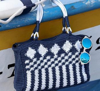 Вязаные сумки из трикотажной пряжы