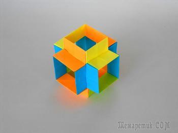 Оригами Гипер куб из бумаги