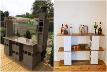 15 поделок для садового участка, которые можно сделать своими руками из шлакоблоков