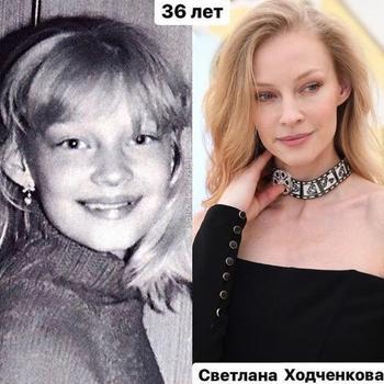 Актрисы российского кино в детстве и сегодня