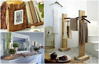 Вдохновляющие идеи использования натуральной древесины для декора дома и сада