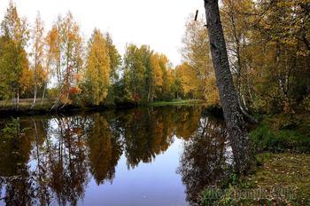 зеркало осень, карелия