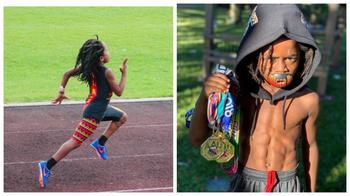Быстрее ветра: 7-летний мальчик пробегает 100 метров за 13 секунд