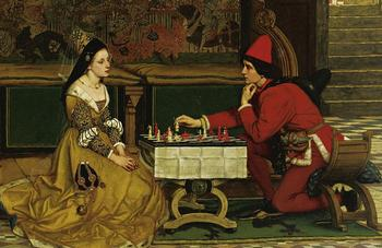 Куда смотреть на картине с шахматами, чтобы узнать, какую историю зашифровал художник