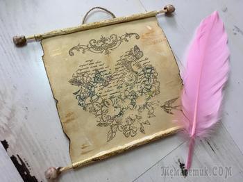 Как сделать бумажный свиток/Состаривание бумаги