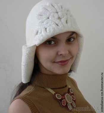 """Валяем стильную шапку-ушанку """"Снежная королева"""""""