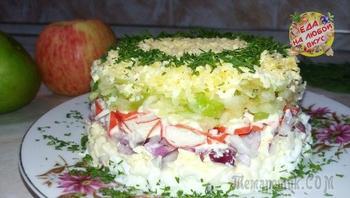 Салат «Нежность» с интригующим новым вкусом