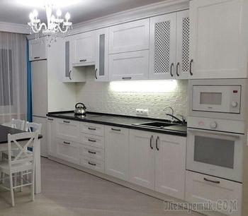 Кухня: проверенное доминирование белого цвета