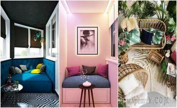 18 шикарных идей, как преобразить застеклённый балкон