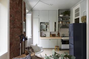 Однокомнатная квартира с двухъярусной кроватью. 36 кв.м.