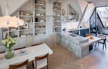 Просторный минималистичный лофт в Стокгольме (160 кв. м)