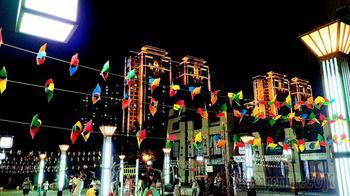 Китай 2018. 34. Сиань. Вечрняя прогулка в районе гостиницы Titan Jincheng Art Hotel