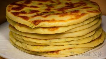 Как же они хороши! Лепешки с картошкой из сырного теста (на сухой сковороде)