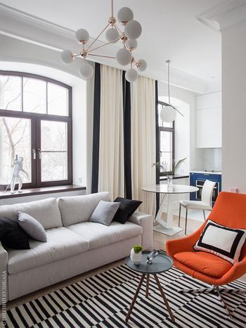 Стильный минимализм в небольшой московской квартире