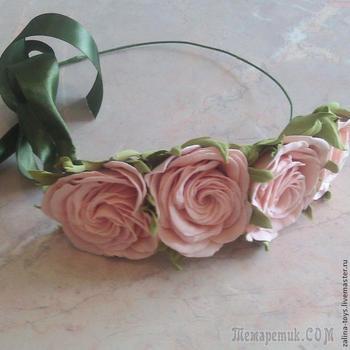 Делаем розы из фоамирана на примере венка-повязки