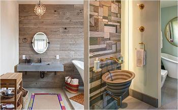 Вторсырьё в интерьере: 10 способов внедрить б/у дерево в ванную комнату