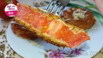 Жареные помидоры - закуска за пару минут!