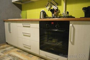 Кухня: лофт в однокомнатной панельке
