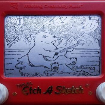 """Невероятные рисунки, созданные на """"Волшебном экране"""""""
