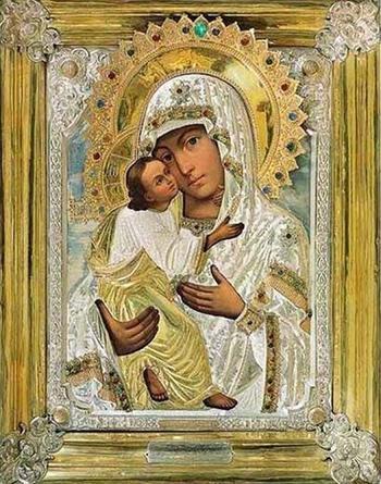 Псково-Печерская икона Божией матери «Умиление»