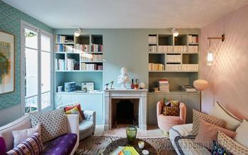 Царство принтов и пастельных оттенков в интерьере парижского дома