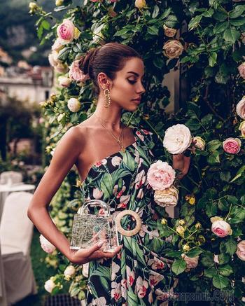 15 модных летних образов с цветочным принтом