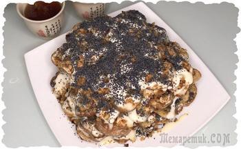Торт из пряников без выпечки. Короткий видео рецепт
