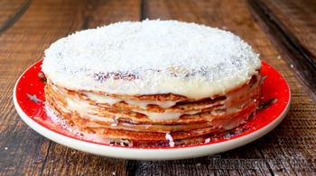 Блинный торт медовик на сковороде