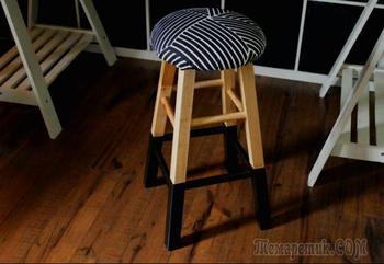 Как сделать стильное мягкое сиденье для деревянного стула