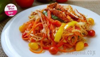 Азиатский салат, порадует даже гурманов!