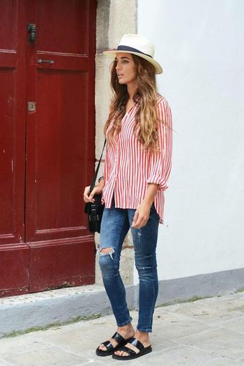 С чем носить стильную длинную рубашку?