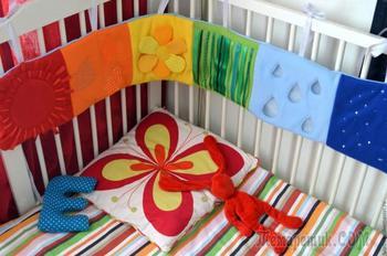 Шьем развивающий бортик на детскую кроватку