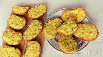 Горячие бутерброды приготовленные в духовке с яйцами и сыром