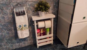 Как самому сделать полку для ванной и туалета из обрезков доски