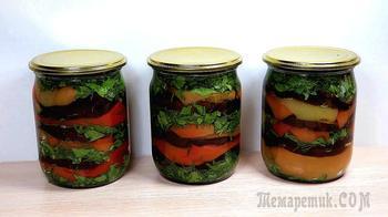 Салат из баклажанов и болгарского перца на зиму