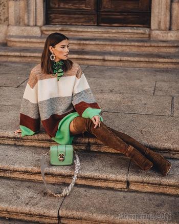 С чем стильно носить ботфорты осенью: 19 кокетливых примеров